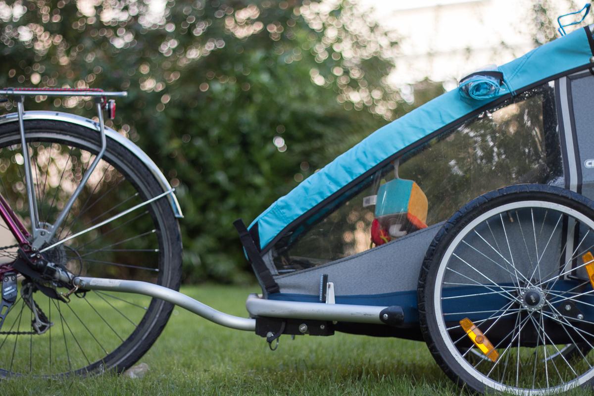 Croozer am Fahrrad