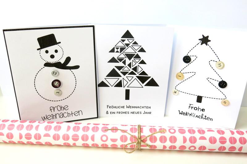 """12 Freebie """"Weihnachtskarten zum Selber-Gestalten"""" – Mama in Essen"""